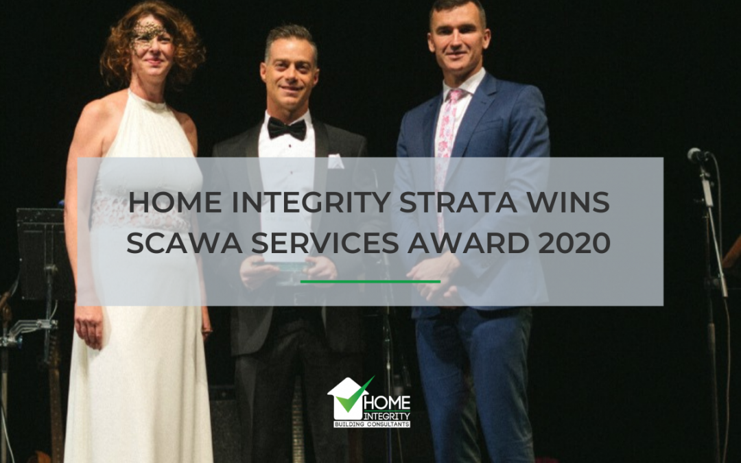 Home Integrity Strata Wins SCAWA Services Award 2020