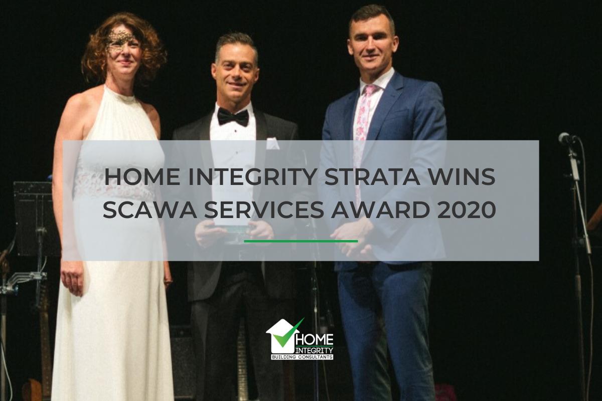 Home Integrity Strata Wins SCAWA Services Award 2020